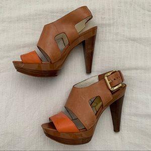 MICHAEL KORS two-toned platform heel